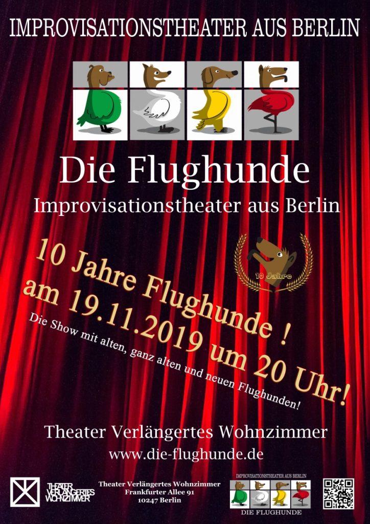 10 Jahre Flughunde! Die Impro Comedy Show! @ Theater Verlängertes Wohnzimmer